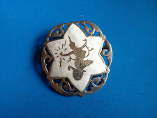 Fine Broche Email & Argent Massif Sterling 925 SIAM / Ethnic Brooch