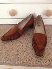 STUNNING RENE BY ARA TAN BROWN SEUDE SHOES UK SIZE 3.5 WORN GREAT CONDITION