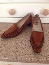 Impresionante Rene Por Ara Marrón Tostado Seude Zapatos UK Size 3.5 Usado Perfectas Condiciones