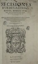 DECISIONES BURDEGALENSES NICOL. BOERII SUMMA DILIGENTIA 1566 Césare FARINA Folio