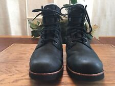 UGG Men's Black Durable Waterproof Leather Work Boots With Insider Size 9