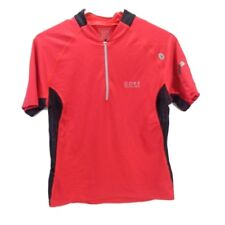 Gore Running Wear 1/4 zip reflective running shirt with shoulder music pocket LG