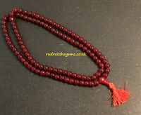 GARNET  BUDDHIST JAPA MALA 108+1 ROSARY BEADS HINDU YOGA MEDITATION FOR STRENGTH