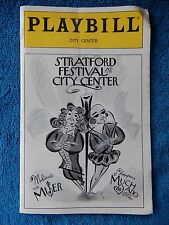 Much Ado About Nothing - City Center Playbill w/Ticket - November 24th, 1998