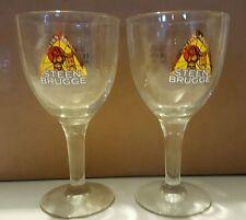 2 New Steen Brugge Goblets  0.25 cl Stemmed Beer Glass Belgium