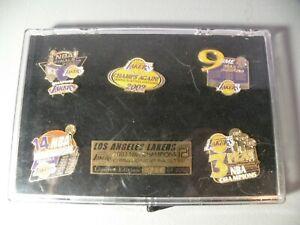 Los Angeles Lakers 2002 NBA champions Commemorative pin set 3 peat Limited Edit.