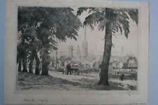Ansicht von Rouen, signiert: L.Meilleurs, 1909 - Radierung
