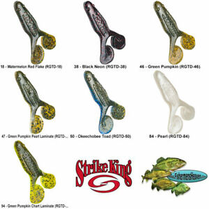 Strike King Topwater Rage Toad Soft Plastic Buzzbait 7 Colors RGTD Frog Lure
