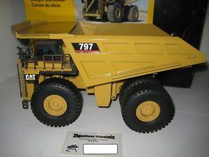 Caterpillar 797 Tombereau Jaune #466.1 NZG 1:50 Emballage D'Origine