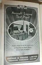 More details for 1944 ww2 heenan & froude aircraft engine test plant advert original 32x19 cm's