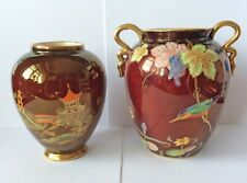 2 x Carlton Ware Royale Rouge Vases