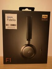 Philips F1 Fidelio lightweight on-ear Headphones with Microphone. New, Sealed