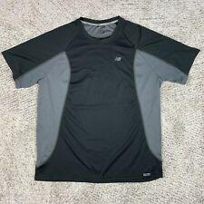 New Balance Running Shirt Mens Large Jogging Lightning Dry Gym Performance Black