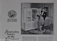 1926 Frigidaire refrigerator advertisement, large electric icebox, fridge
