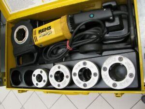 REMS Gewindeschneidmaschine Amigo Nr. 530020 Set R 1/2- 3/4-1-1 1/4 Kluppe