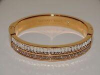 Michael Kors Pave Rose Gold Crystal Hinge Bangle Bracelet MKJ6210791 NWTS