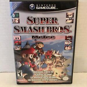 Super Smash Bros Melee Nintendo GameCube COMPLETE CIB