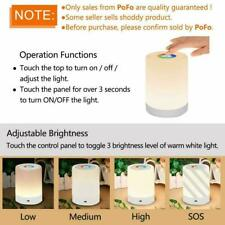 Smart Bedside Table Led Night Light Lamp Color Changing RGB Touch Lamp For Kids