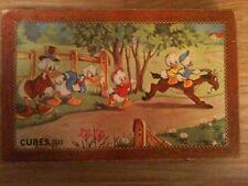Ancien jeu de 40 cubes en bois MICKEY DONALD