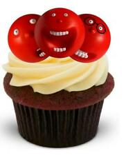 COMIC RELIEF RED NOSES - 12 Edible Stand Up Premium Wafer Cake Toppers