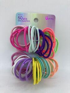 Scunci 50 Piece Mini Elastics ~ Various Colors