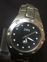 fossil blue mens watch, 100 Meter water resistant, Stainless Steel 40 Mm Case.