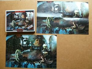 Vintage Star Wars Return of the Jedi Jabba the Hutt Jigsaw Puzzle AND POSTER
