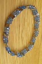 Sparkling sea blue crystal bracelet