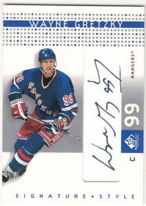 02/03 UD SP GAME USED WAYNE GRETZKY SIGNATURE STYLE AUTOGRAPH AUTO