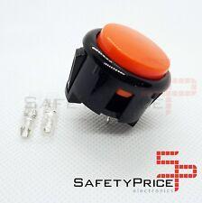 Pulsante Arcade 30mm Arancione faston Jamma Push button Bartop Raspberry SP