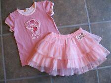 Naartjie Set Jie Jie Striped Top Netting Tulle Skirt Pink size 5, 7