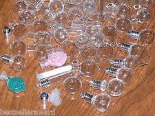 50pc Huge Lot Glass Big Mix bottles * vials charms Necklace locket pendants *