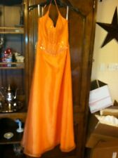 MARY'S by PC MARY'S Bridesmaids prom orange Formal Dress  Sleeveless 6 sequins