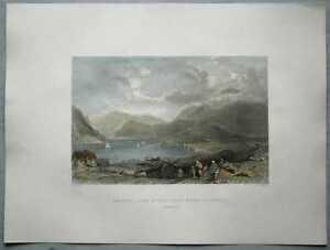 1837 Allom print SCOTLAND: BONAWE, LOCH ETIVE, FROM TAYNUILT, ARGYLLSHIRE (#33)