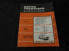 """revue technique automobile-mercedes-benz """"220D""""-""""200D"""""""