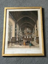 Earl Of Lovelace Provenance Horsely Towers Lithograph Picture Interior Antique
