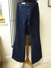 NEW POLO RALPH LAUREN DENIM BOOTCUT FLARED WIDE LEG JEANS SIZE W28 L34