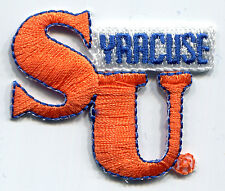 "SYRACUSE ORANGEMEN NCAA COLLEGE SMALL 1.75"" LETTERS LOGO TEAM PATCH"