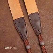 White Stitching Correa de Cámara de cuero marrón oscuro con conexión del anillo por Cam-in