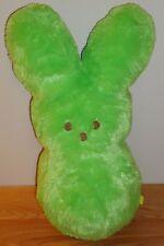 "PEEPS Green Large 16"" BUNNY RABBIT plush Just Born RARE UNIQUE"
