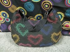 Extra Large Multi-Color Heart Design Hobo Style Shoulder Bag