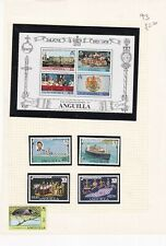 ANGUILLA PRE 1980's ALBUM PAGE OF 5 STAMPS & A MINIATURE SHEET
