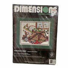 "Dimensions Fishermen's Fancy Counted Cross Stitch Kit 3787 Fishing 14""x11"""