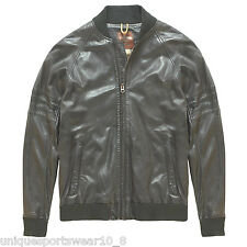 MEN'S TIMBERLAND MOUNT MAJOR JACKET 100% SHEEP LEATHER BOMBER COAT XL NEW £589