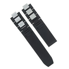 20MM RUBBER STRAP BAND FOR FIT CARTIER MUST 21 CHRONOSCAPH 2824, 2424 AUTOSCAPH