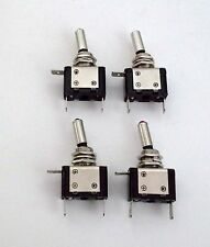 4 BBT Brand Lighted Red 12 volt LED On/Off 20 amp Toggle Switches