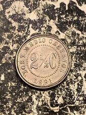 1881 Colombia 2 1/2 Centavos Lot#Z812 Nice! Km#179