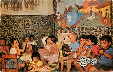 Postcard Moetzet Hapoalot Day Nursery Isreal Pioneer Women Children at Play 5597