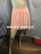 FOREVER 21 PEACH COLOR LONG BACK CHIFFON SKIRT SIZE S