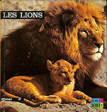 """LIVRE POUR ENFANTS ENFANTINA ANNE-MARIE PAJOT """" LES LIONS """" 1974"""